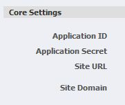 Enter Site URL to activate your Facebook Connection