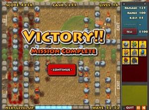 Winning screenshot